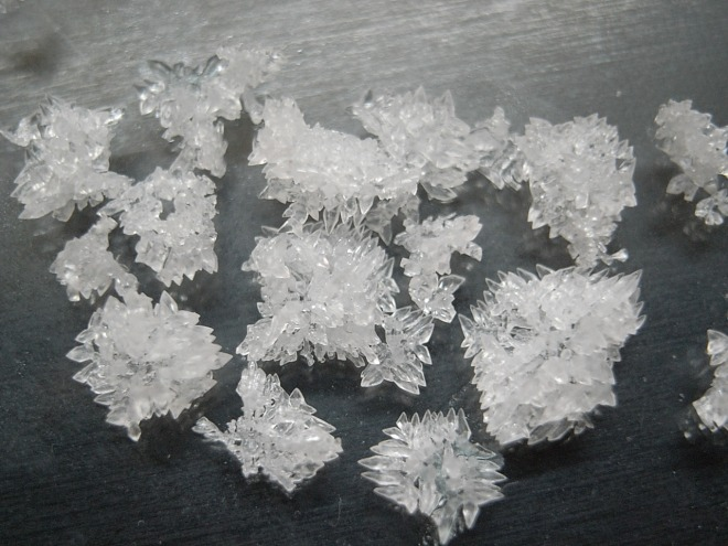 Potassium iodide crystals
