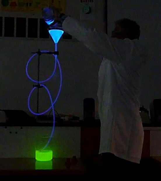 Chemiluminescence, courtesy of Nigel Evans, Bloxham School.